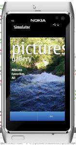 Pictures Hub on Nokia Qt Simulator