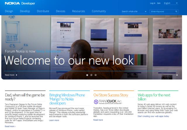 Nokia Developer Home Page
