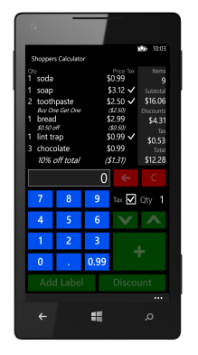 Shoppers Calculator